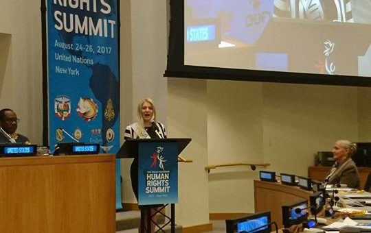 Secretary General of IUBCCI – The USA Youth Ambassador at the 14th International Human Rights Summit, United Nations, 2017